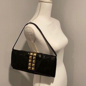 Michael Kors Studs Leather Studded Shoulder Bag